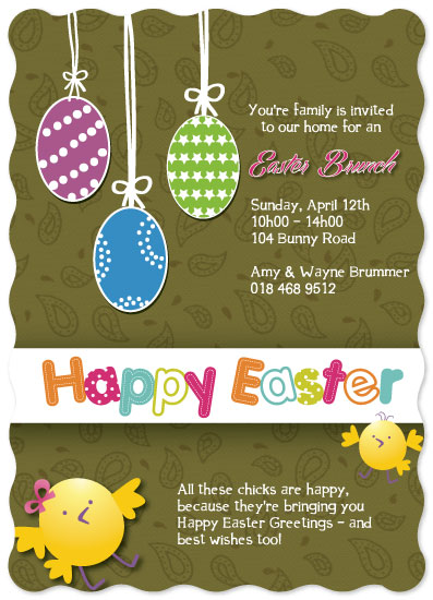 party invitations - Easter Brunch Invitation by Nadia