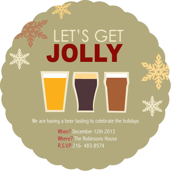party invitations - Let's get jolly by Karina Padilla-Robinson
