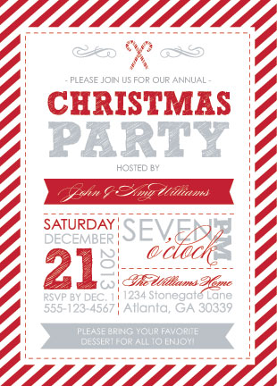 party invitations - Candy Cane Christmas at Minted.com