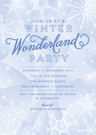 party invitations - Winter Wonderland at Minted.com