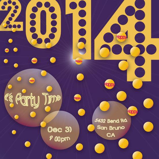 party invitations - New Year halo by Regina Sakols