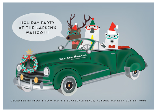 party invitations - rock star holiday party by Chris Griffith