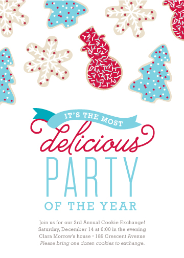 party invitations - Most Delicious Party of the Year by sweet street gals