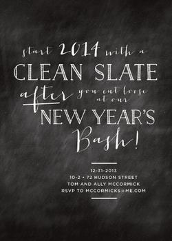 Clean Slate New Year