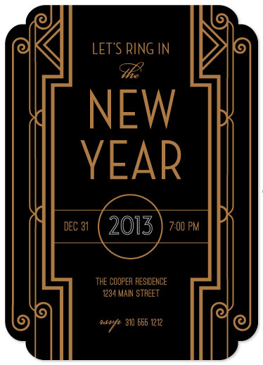 party invitations - Gatsby New Year by Smudge Design