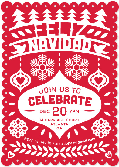 party invitations - Feliz Navidad Fiesta Banner by Shari Margolin