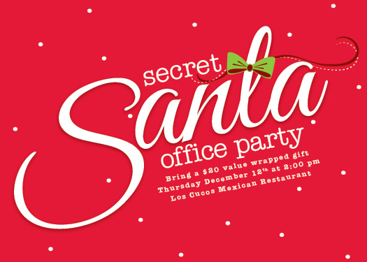 party invitations - Snowy Secret Santa by Joanna