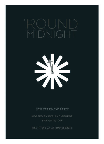 party invitations - 'Round Midnight by Greetings