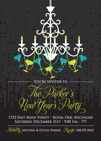 party invitations - Sparkling Chandelier by Jill Zielinski Designs