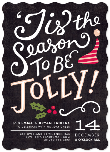 party invitations - Tis the Season by Griffinbell Paper Co.