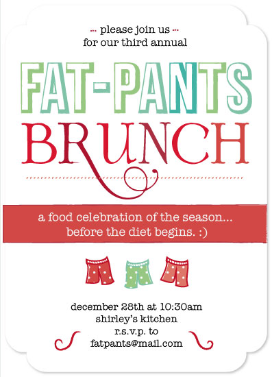 party invitations - Fat Pants Brunch by Josh Wintersteen