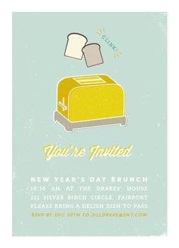 let's toast! holiday brunch invitation