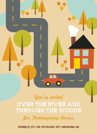 party invitations - Over The River by Tami Bohn