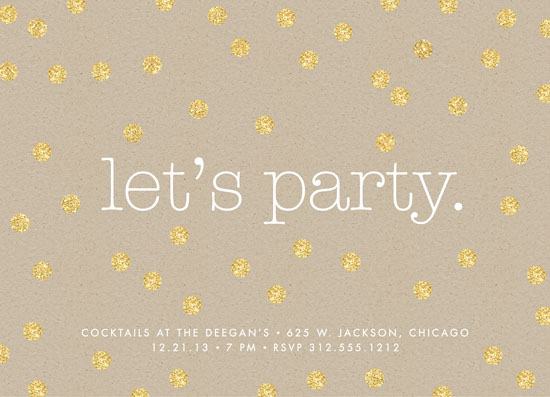 party invitations - let's party. by Erin Deegan