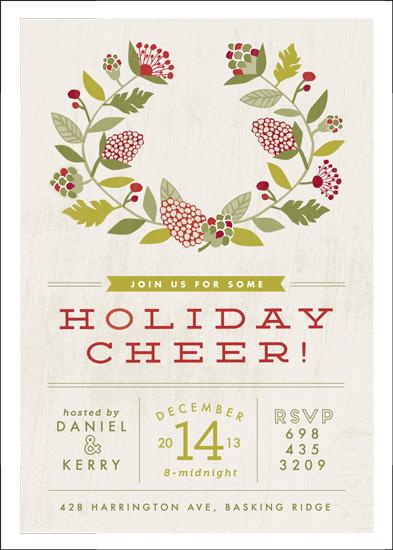 party invitations - Cheerful Wreath by Yolanda Mariak Chendak