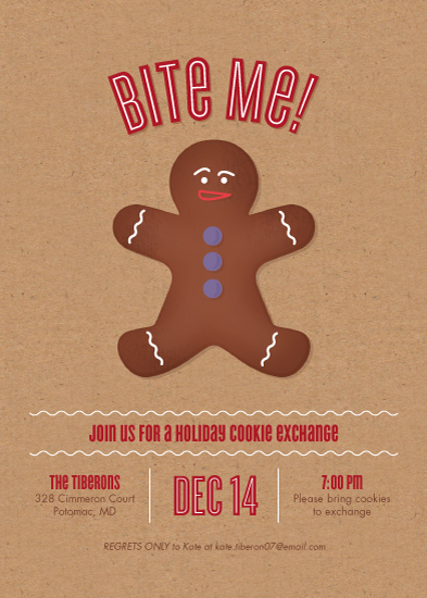party invitations - Bite Me! Cookie Exchange by Ann Gardner