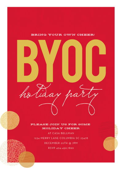 party invitations - BYOC by chica design