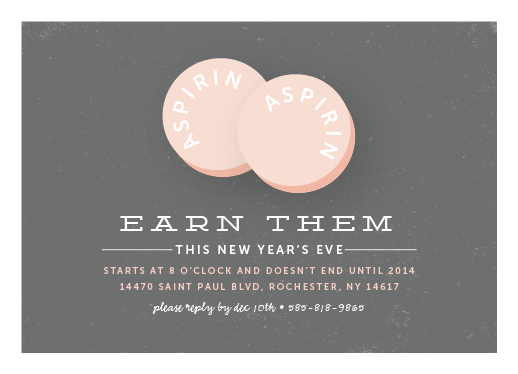 party invitations - Two Aspirin by Up Up Creative