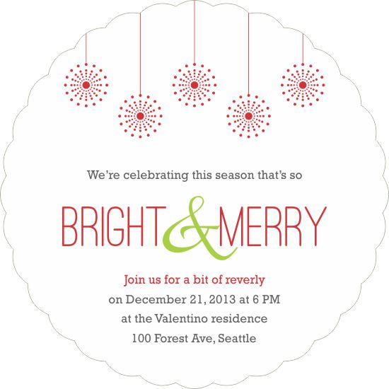 party invitations - Bright & Merry by Priyanka Nayar