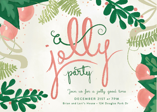 party invitations - A Jolly Party by Lori Wemple