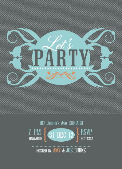 party invitations - Let's Party by Jana J