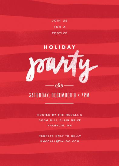 party invitations - Painterly Stripes by Jennifer Wick