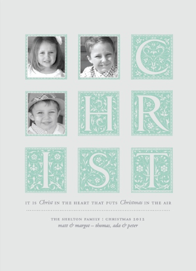 holiday photo cards - Christ in the Heart by Adrienne Berry