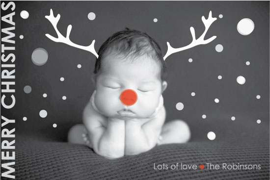 holiday photo cards - Red-nosed Baby #2 by Karina Padilla-Robinson