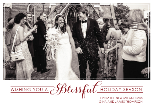 holiday photo cards - Blissful by Tickled Peach Studio