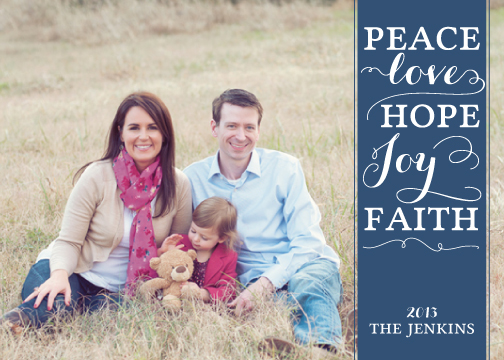 holiday photo cards - Faith Banner by Tickled Peach Studio