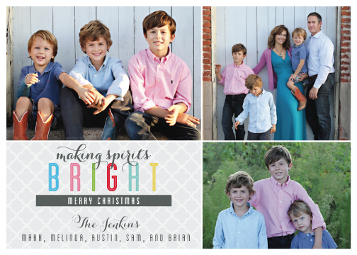 holiday photo cards - Making Spirits Bright by Tickled Peach Studio