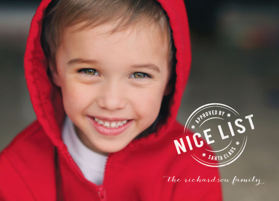 holiday photo cards - The Nice List by Barney Design