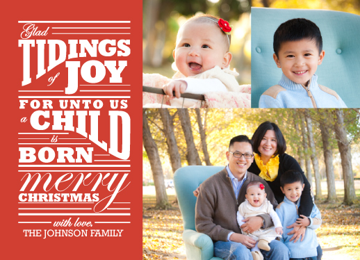 holiday photo cards - Glad Tidings by Kayla Thompson