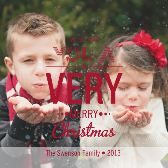 holiday photo cards - Wishful Christmas Wishes by Lauren Rust