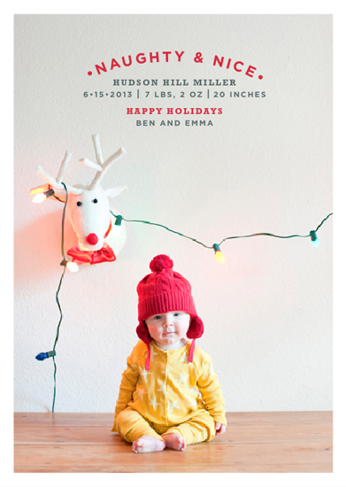 holiday photo cards - Naughty & Nice by Design Corral