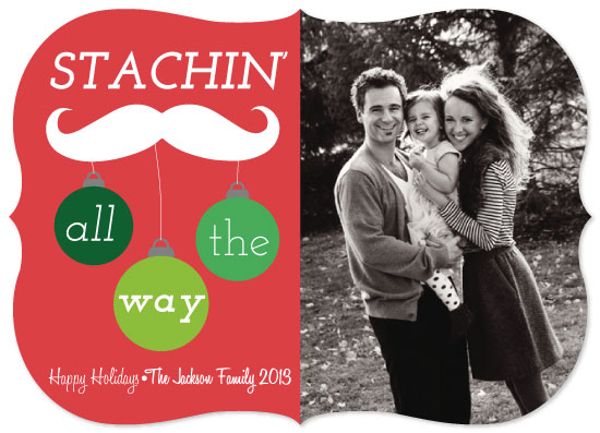 holiday photo cards - Stachin' All the Way by Rebecca Allen