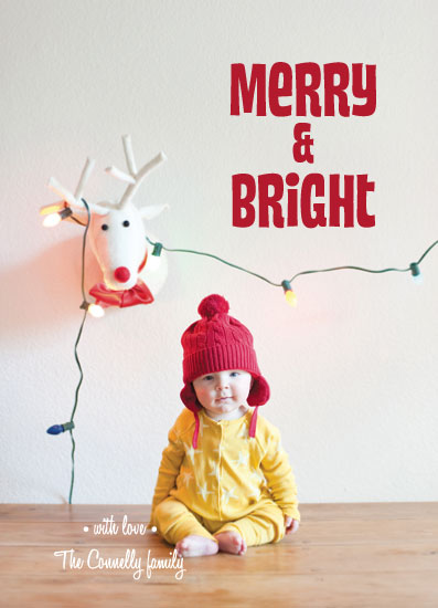 holiday photo cards - Merry & Bright by Lauren Rust