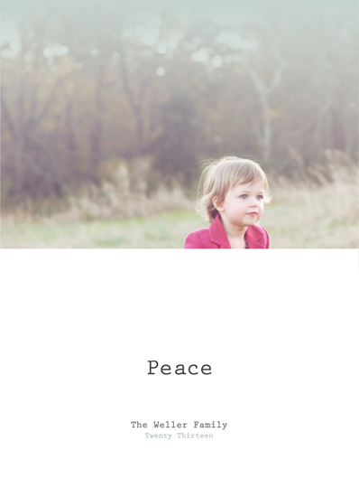 holiday photo cards - Peace by Caitlin Rolls