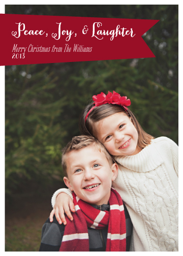 holiday photo cards - Peace, Joy, Laughter by Tickled Peach Studio