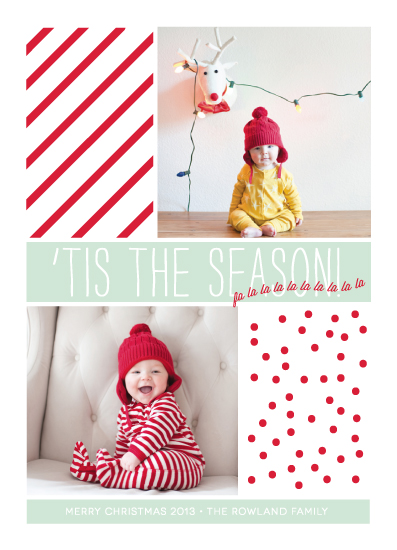 holiday photo cards - fa la la la la by la Happy