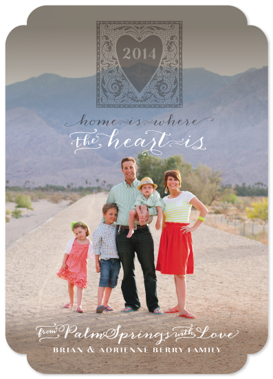 holiday photo cards - Home is Where the Heart Is by Adrienne Berry