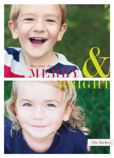holiday photo cards - Merry Days & Bright Nights by Antler and Antler