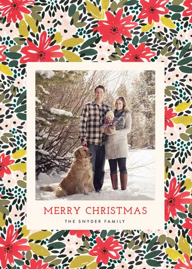 holiday photo cards - A Holiday Floral by Melissa Kelman