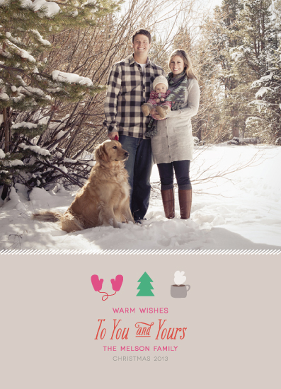 holiday photo cards - Warm Wishes to You by la Happy