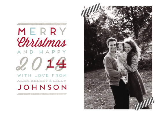 holiday photo cards - Modern Type Christmas by la Happy