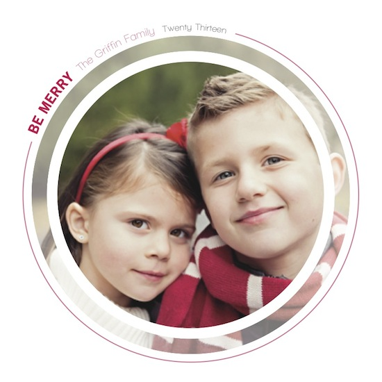 holiday photo cards - Roundel by Caitlin Rolls