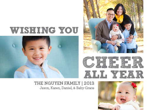 holiday photo cards - Cheer All Year by Joanna
