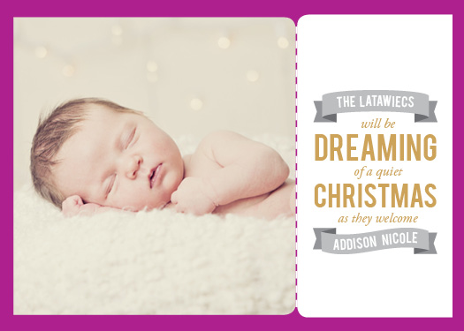 holiday photo cards - Dreaming of a Quiet Christmas by Joanna
