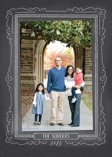 holiday photo cards - Chalkboard Frame by Ann Gardner
