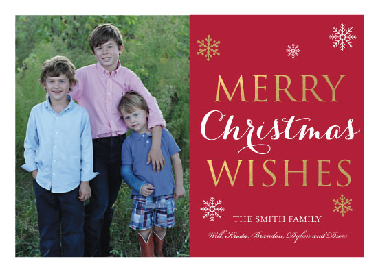 holiday photo cards - Gold Wishes by Kristin Rees